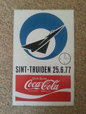 AIRSHOW Coca-Cola - Sint-Truiden, Belgium 1977 STICKER / AUFKLEBER / AUTOCOLLANT