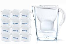 Brita Wasserfilter Jahrespaket Marella Inkl. 12 Maxtra Filterkartuschen weiß