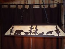 Laser cut Steel XLRG BEAR WOLF Pool Table Light rustic hunt cabin decor COPPER
