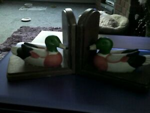 pair  duck book ends