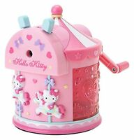 Hello kitty Manual pencil sharpener merry-go-round F/S w/Tracking# Japan New