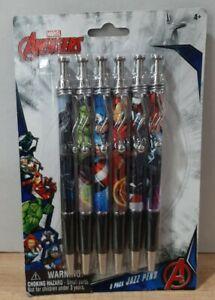 Marvel Avengers ~ Super Heroes Pack of 6 ~  Jazz Pen Set