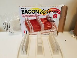 Emson Bacon Wave Microwave Bacon Cooking Tray As Seen On TV Up To 14 Slices
