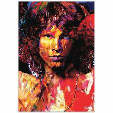 Pop Art 'Jim Morrison Window of My Soul' - Ltd. Ed. Celebrity Giclee Metal Print