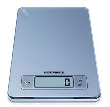 SOEHNLE Slim Gris Digital cocina escala de plata que pesen Postal de cristal táctil de alimentos
