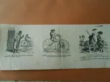 Caricature 1868 - Vélocipèdes supprimer les anes plutot que les chevaux