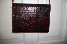 Vintage Croc/Alligator ??? Crossbody Organizer Shoulder Bag Purse w/Adj. Strap