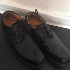 """7M French Shriner Men's Boy's Black """"Albany"""" Lace Up Oxford Scuffed Toes Comfort"""