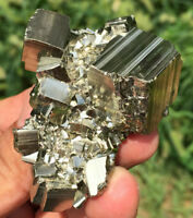 143g Rare&Raw Natural Iron Pyrite Cube Nugget Native Rough Specimen Peru ia0396