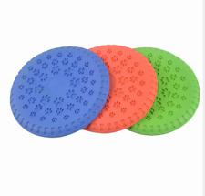 Dog toy 23.5cm Frisbee for Large Dog Indestructible Rubber Toys Fly Discs