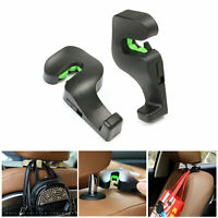 2x Universal Car Back Seat Headrest Hanger Vehicle Holder Hook For Bag Purse