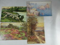Raphael Tuck lot of 4 unused postcards