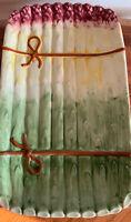 Vintage Majolica Asparagus Platter / Serving Tray - Portugal Spring