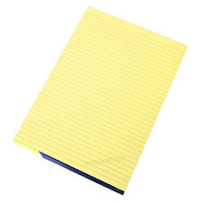 3 x Memory Aid A4 Yellow 100 Page Paper Notepad Refill Memo Lined Writing Pads