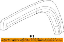 Jeep CHRYSLER OEM Compass QUARTER PANEL-Wheel Opening Molding Right 5UP18RXFAC