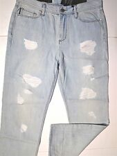Armani Exchange boyfriend women's croped and ripped jeans size 28