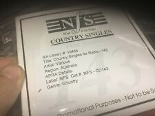 used cd   NFS country singles for radio 143 ex radio station various artists