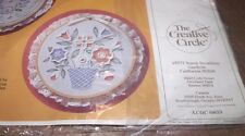 Vintage MEMORY BOUQUET Creative Circle Candlewick Kit 1984 w Hoop