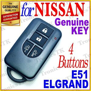 NISSAN ELGRAND SMART KEY / INTELLIGENT KEY / 4 BUTTONS - E51 SERIES - 01