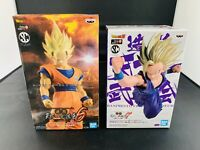 Dragon Ball Z Set Super Saiyan 2 Son Goku & Son Gohan Statue Figure Set Bandai