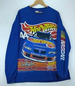 Kyle Petty #44 Hot Wheels 1999 Vintage Long Sleeve T-shirt XL Blue Nascar 90s