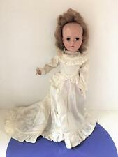 "Sweet Sue American Character 15""  Vtg Bride Doll Satin Wedding Gown 1950's AC"