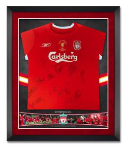 Liverpool 2005 Istanbul Squad Signed SHIRT Genuine Signature AFTAL COA