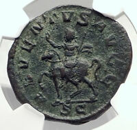 PHILIP I the ARAB Authentic Ancient 248AD Rome Sestertius Roman Coin NGC i72934