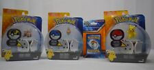 "3 New Pokemon Throw ""N"" Pops,Pikachu,Rotom,Rockruff,And A Pack of Pokemon Cards"
