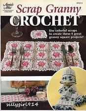 """SCRAP GRANNY CROCHET""~Annies Attic Crochet PATTERN BOOK~9 Projects~SEE PICS~NEW"