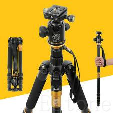 Pro SLR Q-666 Camera Tripod Monopod & Ball Head Portable Compact Travel