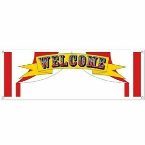 Welcome Sign Banner Party Accessory 5 Ft Bunting Garland