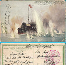 WW1 - 1914. K.u.K. Austria-Hungary Navy ** Torpedo boat ULAN ** S.M. BOOT 81T