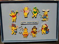 New Listing2005 Disneyland Winnie The Pooh Happy Everything Holiday Boxed 9 Mini-Pin Set