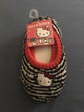 Nwt Sanrio Hello Kitty Girls Slippers Socks Logo White and Black