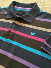 GORGEOUS DUCHAMP MULTI STRIPE WEEKEND POLO SHIRT S SMALL COST £80