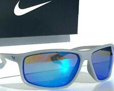 Nuevo * NIKE adrenalina Lobo Gris mate c Azul Degradado Gafas de sol EV1113 066
