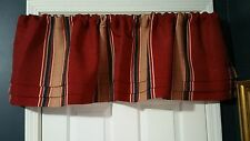 Springs Global Tailored Valance More Formal Wine Navy Tan Gray 16x60 NEW