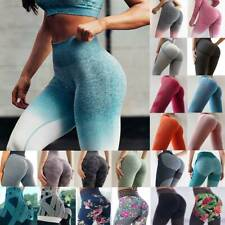 Women's Seamless Push Up Leggings Gym Yoga Pants High Waist Exercise Trousers