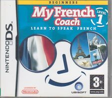 'My French Coach', Level 1, on Nintendo DS (learn to speak French)   1