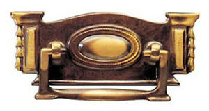 """4.5"""" Decorative Edwardian Antique Style Solid Brass Plate Handle 3026SOC/B"""