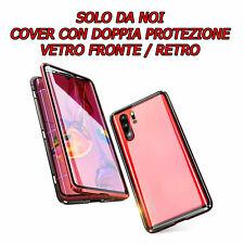 COVER PER IPHONE 7/8/X/XS/XR/XSMAX MAGNETICA ALLUMINIO L'UNICA CON DOPPIO VETRO