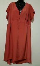 Ladies plus size 18 Orange Hi Lo dress -Autograph j