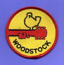 "Woodstock Vintage 3"" Cloth Sew On Patch Cool Colorful Hippy Jimi Hendrix UNUSED"