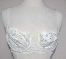 OSCAR de la RENTA Style 1481 Underwire Cream Lace Bra Size 34B