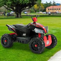 12V Kids Ride On ATV Car Quad 4 Wheels Suspension Electric Toy W/ Led Lights