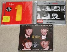 The Beatles Discs 3 CD's LOT w/plastic.One. Let it Be...Naked. Interview Disc.