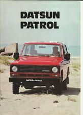 DATSUN PATROL HARDTOP AND ESTATE  SALES BROCHURE JANUARY 1982
