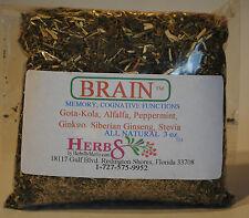 Herbs by Merlin BRAIN TEA- (Cognitive Function, Memory) Organic Tea 3 oz