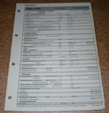Inspektionsblatt Honda Civic 1.6 VTI Modelljahr 1996!